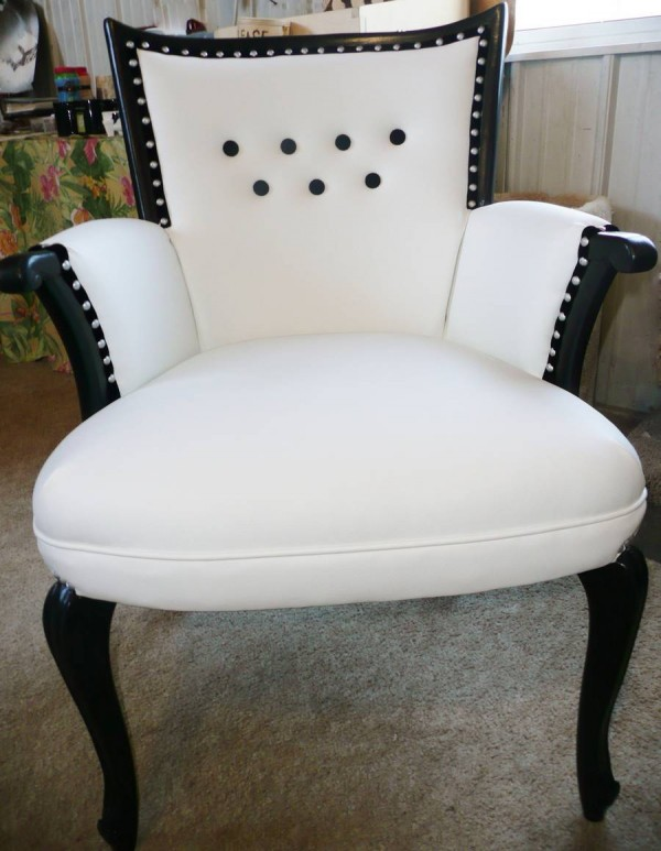 Re-Upholstered White Chair